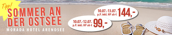 Sommer an der Ostsee ab € 99,00 inkl. HP